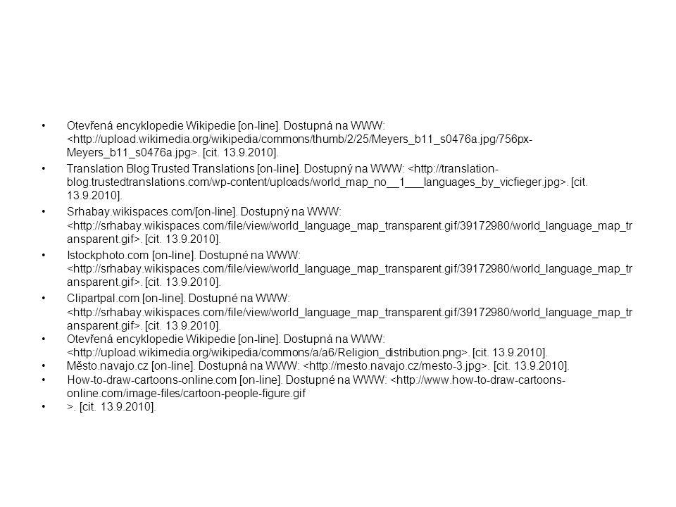 Otevřená encyklopedie Wikipedie [on-line]
